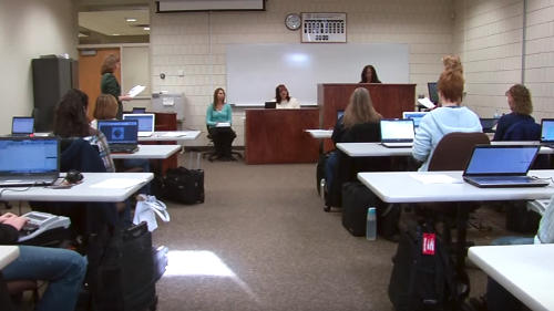 Speed-building court reporting classroom